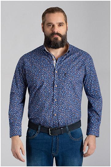 Camisas, Sport Manga Larga, 110063, MARINO