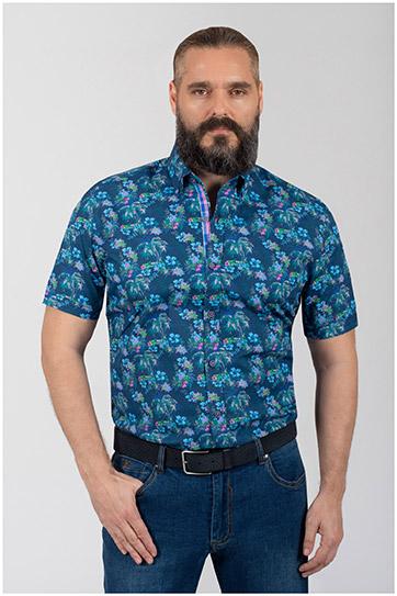 Camisas, Sport Manga Corta, 110069, AZUL