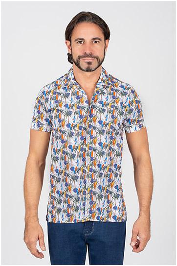 Camisas, Sport Manga Corta, 110071, AZUL