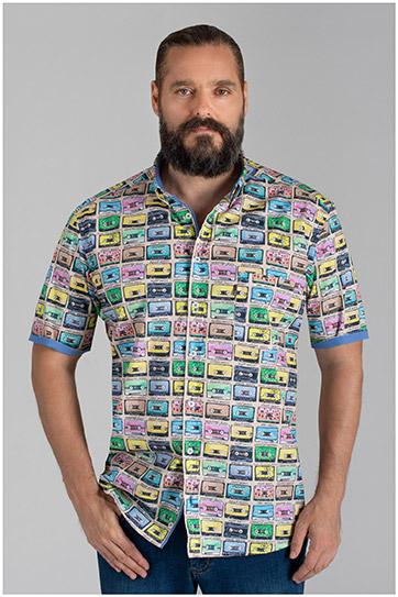 Camisas, Sport Manga Corta, 110151, AZUL
