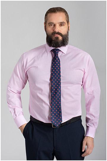 Camisas, Vestir Manga Larga, 110153, ROSA