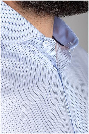 Camisas, Vestir Manga Larga, 110412, CELESTE