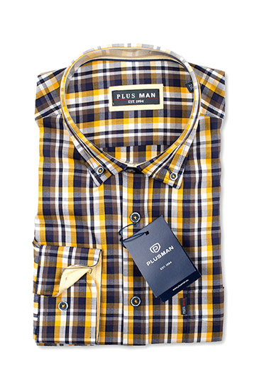 Camisas, Sport Manga Larga, 110420, MOSTAZA
