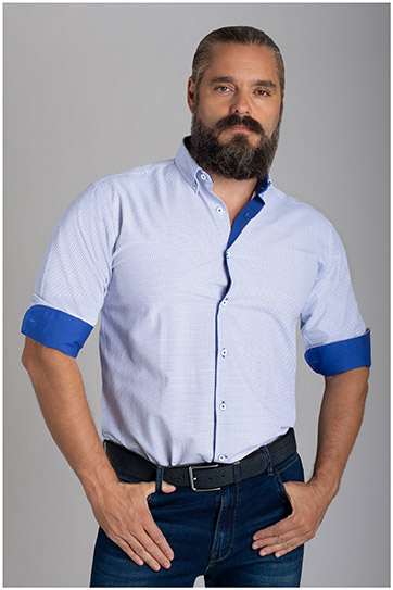 Camisas, Sport Manga Larga, 110424, MARINO