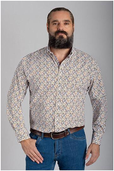Camisas, Sport Manga Larga, 110426, BLANCO