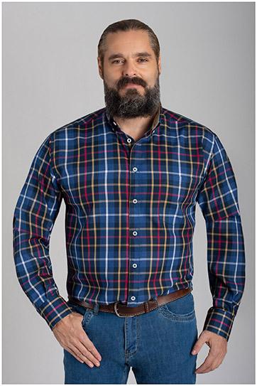 Camisas, Sport Manga Larga, 110474, MARINO