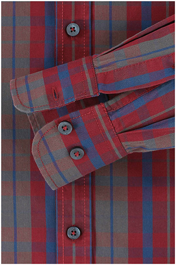 Camisas, Sport Manga Larga, 110544, BURDEOS