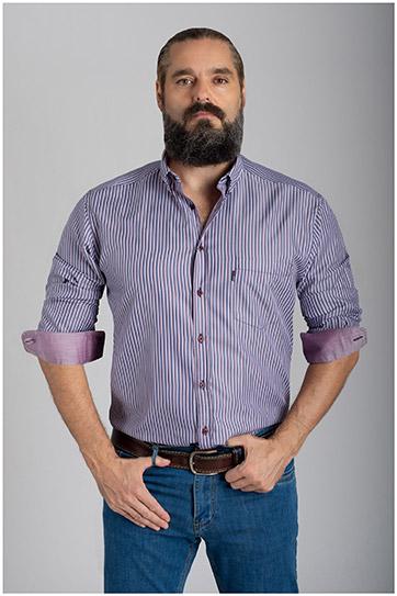 Camisas, Sport Manga Larga, 110557, MARINO