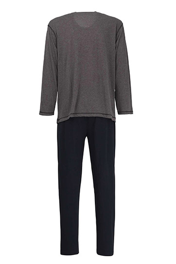Homewear, Pijama M. Larga, 110578, GRIS MEDIO