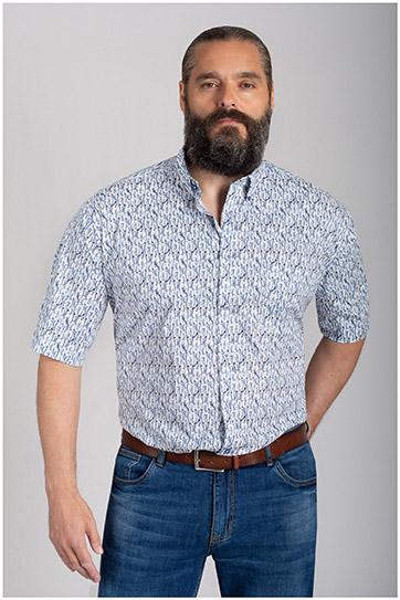 Camisas, Sport Manga Corta, 110857, AZUL