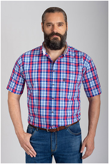 Camisas, Sport Manga Corta, 110877, MARINO