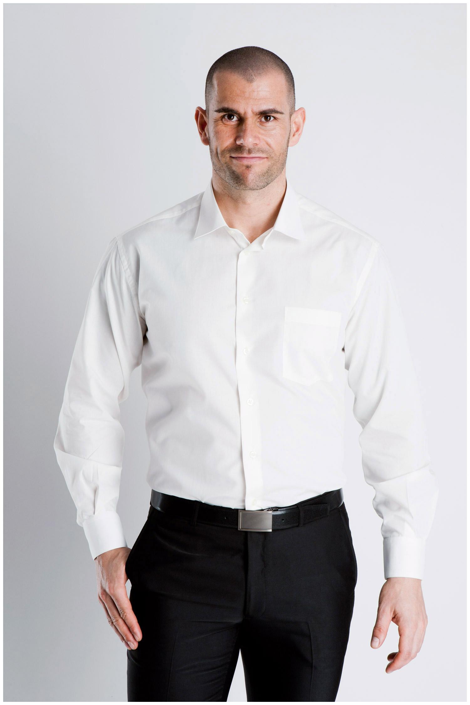 Camisas, Vestir Manga Larga, 102522, BLANCO | Zoom
