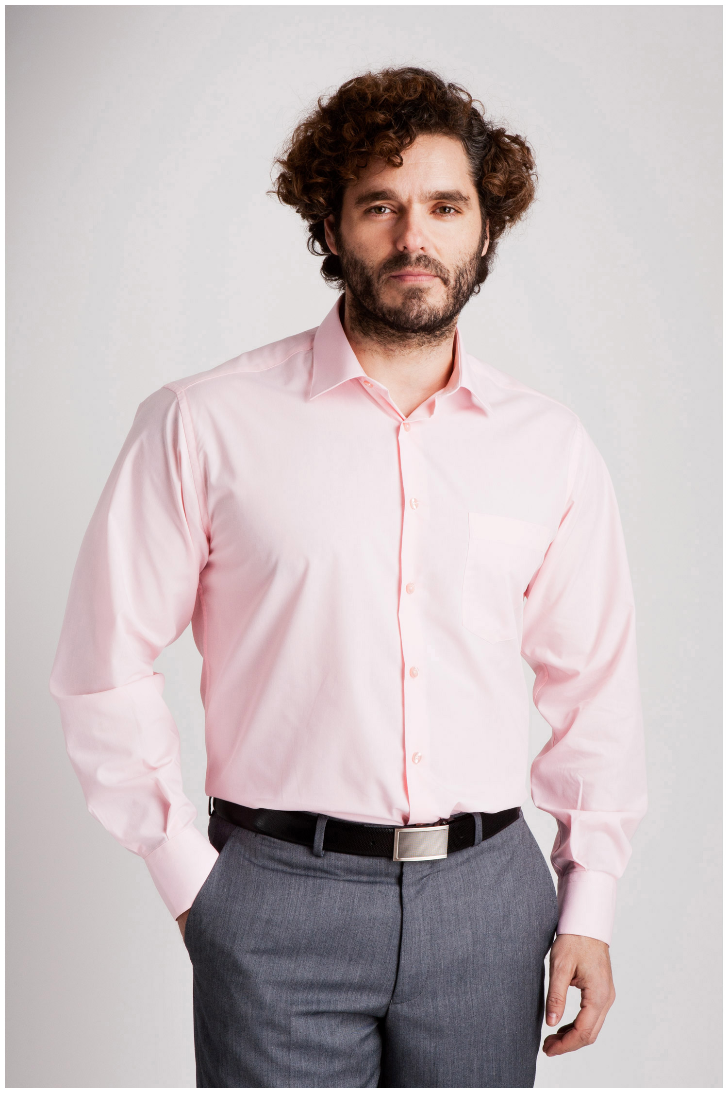 Camisas, Vestir Manga Larga, 102522, ROSA | Zoom