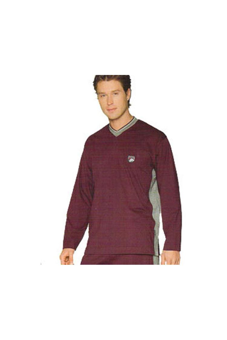 Homewear, Pijama M. Larga, 103305, GRANATE | Zoom