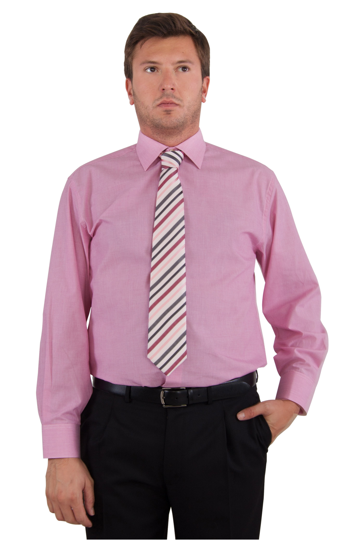 Camisas, Vestir Manga Larga, 103658, GRANATE | Zoom