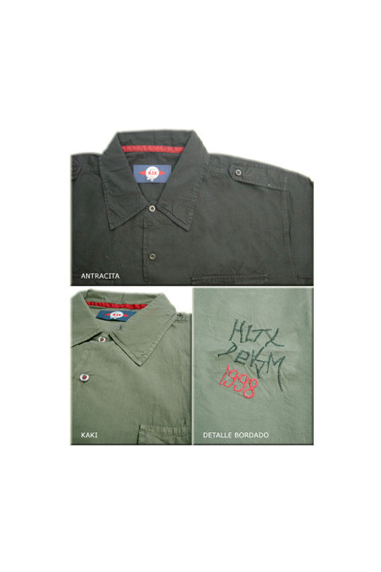 Camisas, Sport Manga Corta, 103815, ANTRACITA | Zoom