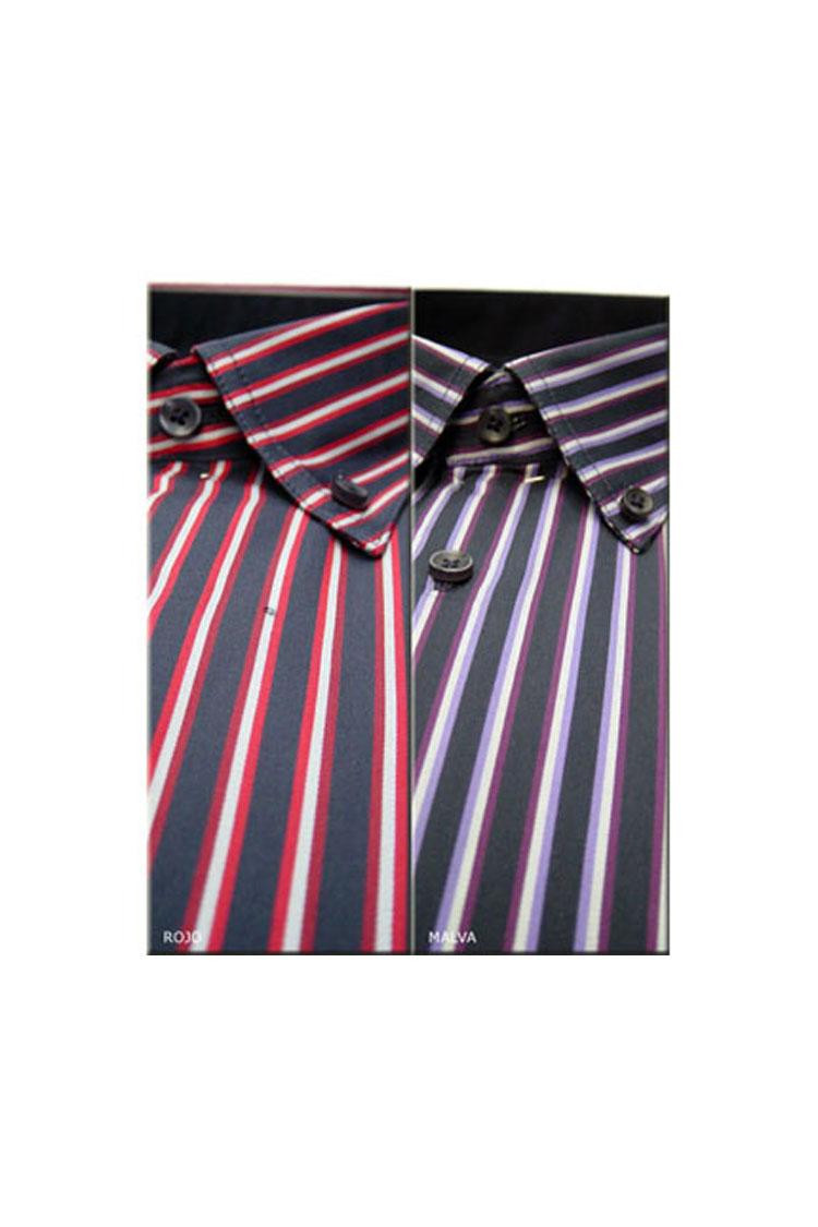 Camisas, Sport Manga Larga, 104118, ROJO | Zoom