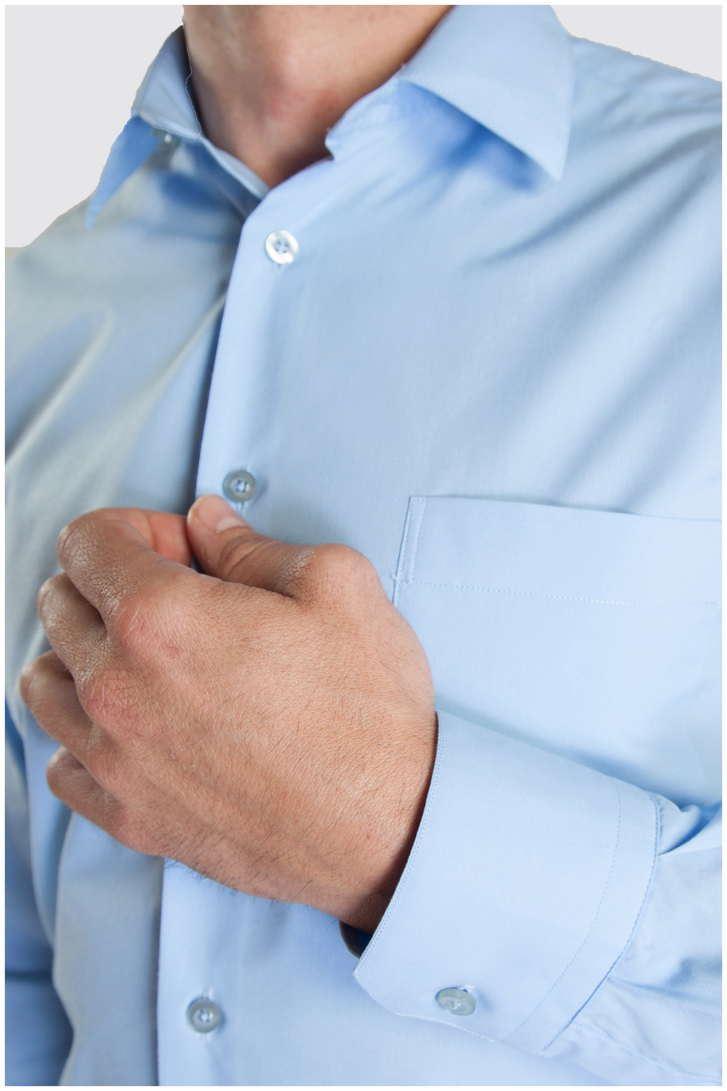 Camisas, Vestir Manga Larga, 104226, CELESTE | Zoom