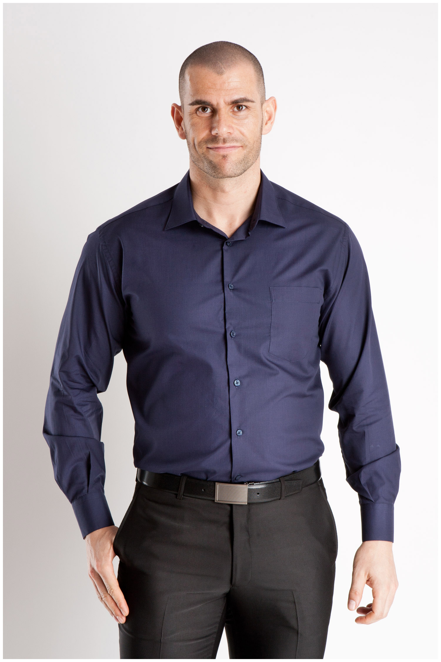 Camisas, Vestir Manga Larga, 104226, MARINO | Zoom