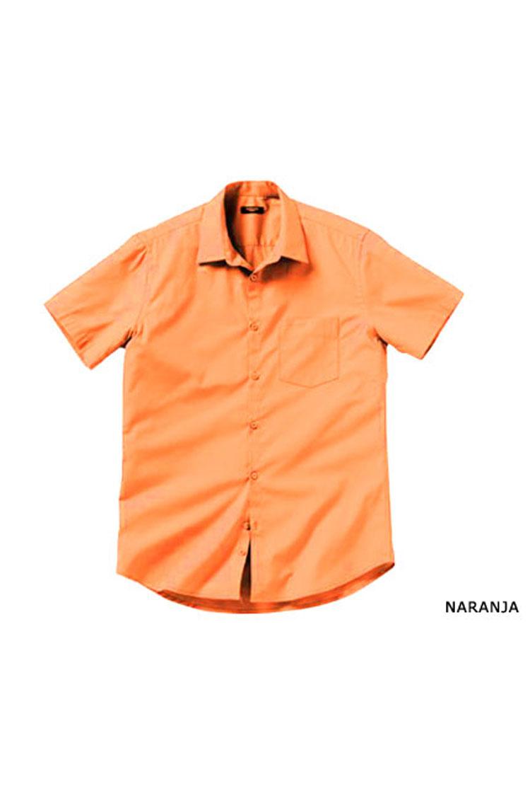 Camisas, Vestir Manga Corta, 104227, NARANJA | Zoom