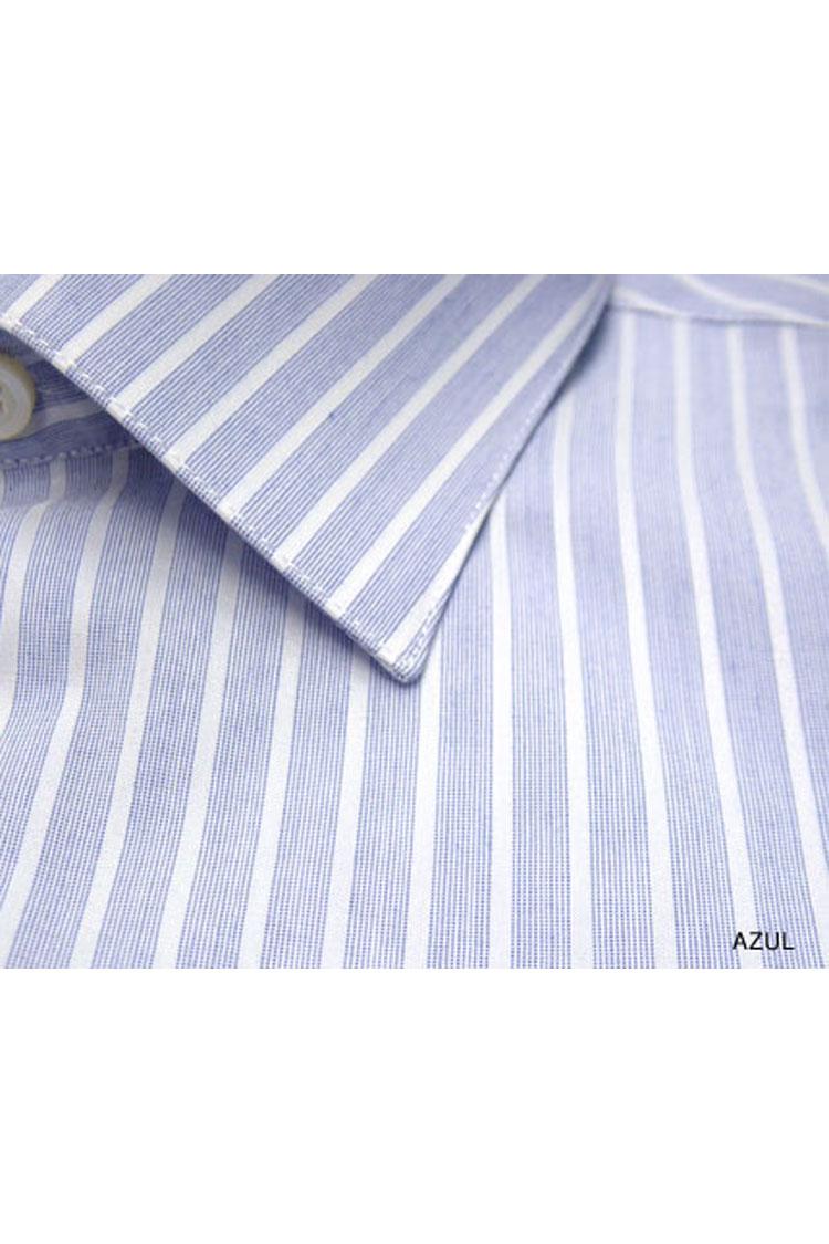 Camisas, Vestir Manga Larga, 104375, AZUL | Zoom