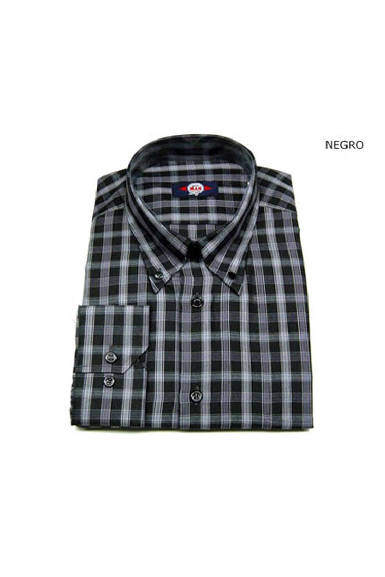 Camisas, Sport Manga Larga, 104602, NEGRO | Zoom