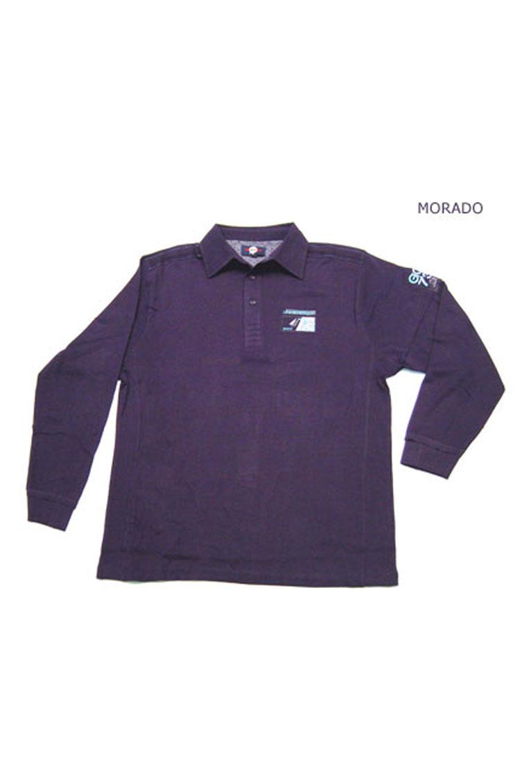 Sport, Polos M. Larga, 104638, MORADO | Zoom