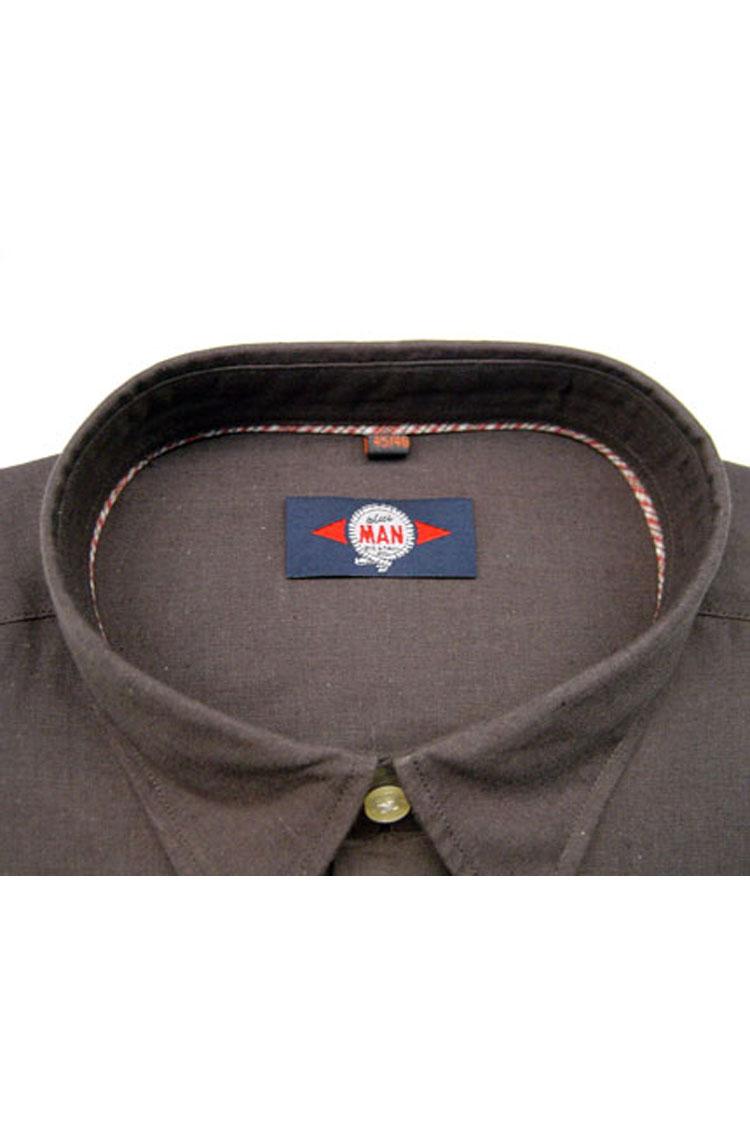 Camisas, Sport Manga Corta, 105087, MARRON | Zoom