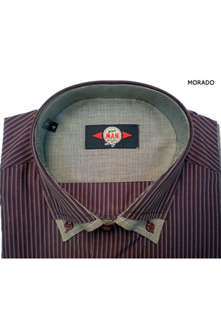 Camisas, Sport Manga Larga, 105358, MORADO | Zoom