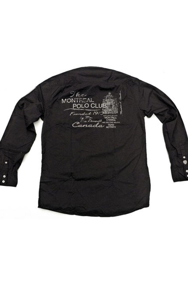 Camisas, Sport Manga Larga, 105850, NEGRO | Zoom
