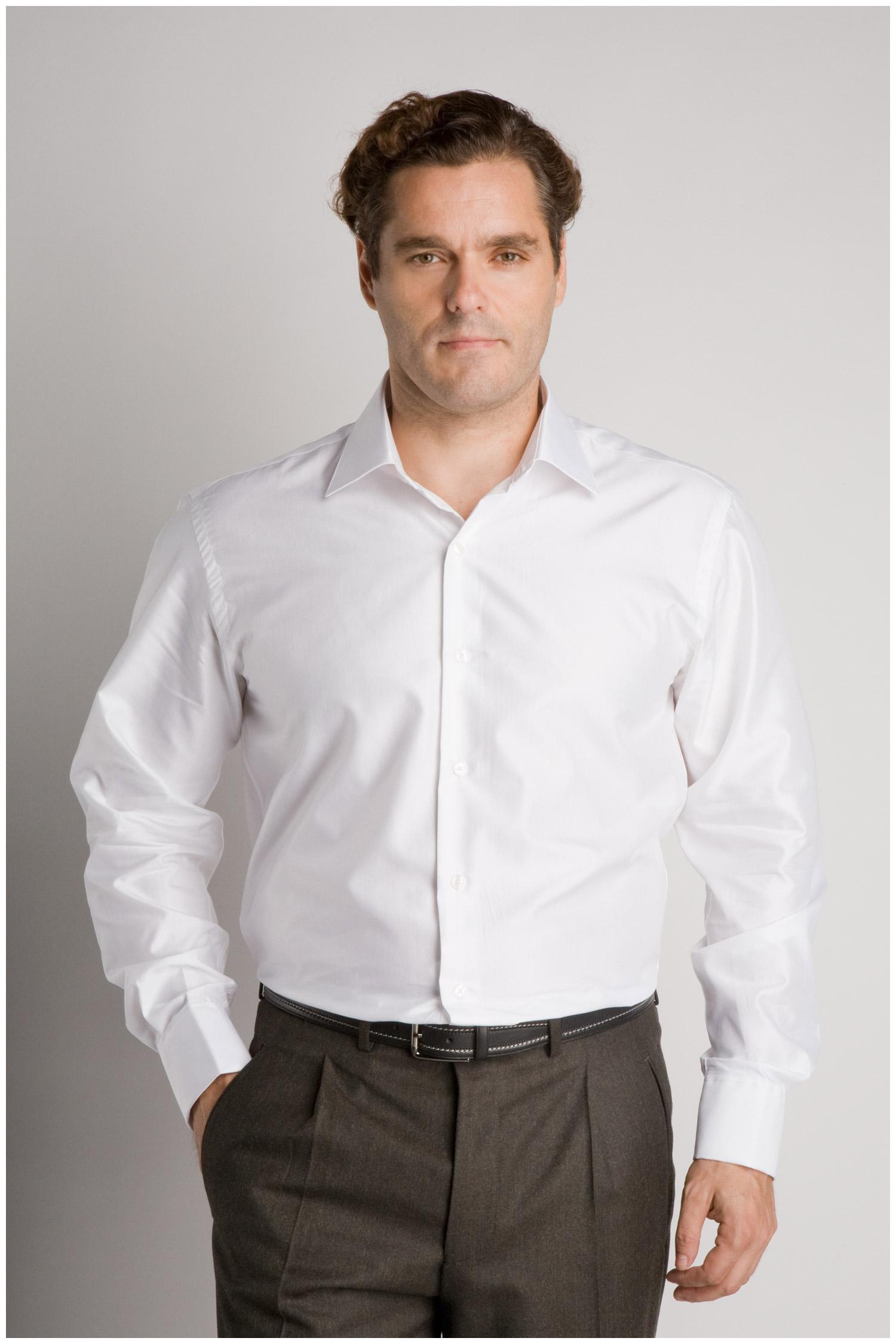 Camisas, Vestir Manga Larga, 106530, BLANCO | Zoom