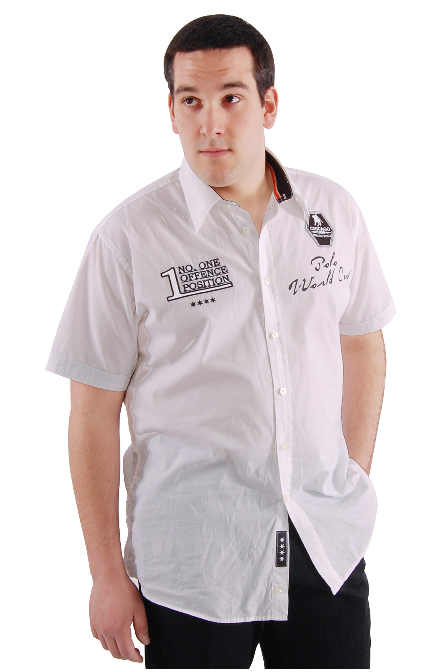 Camisas, Sport Manga Corta, 106545, BLANCO | Zoom
