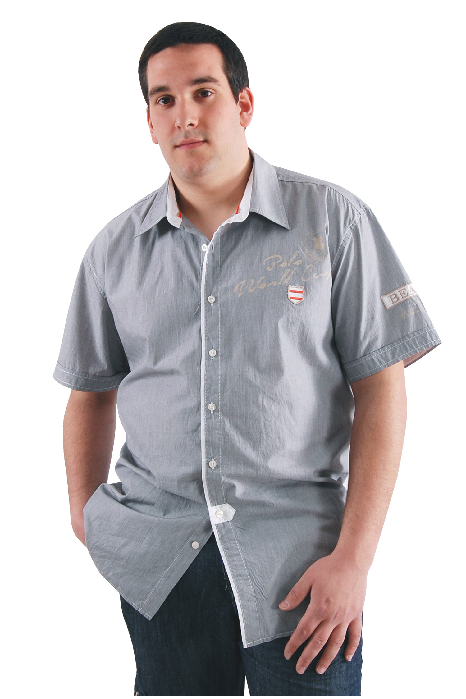 Camisas, Sport Manga Corta, 106547, NEGRO | Zoom