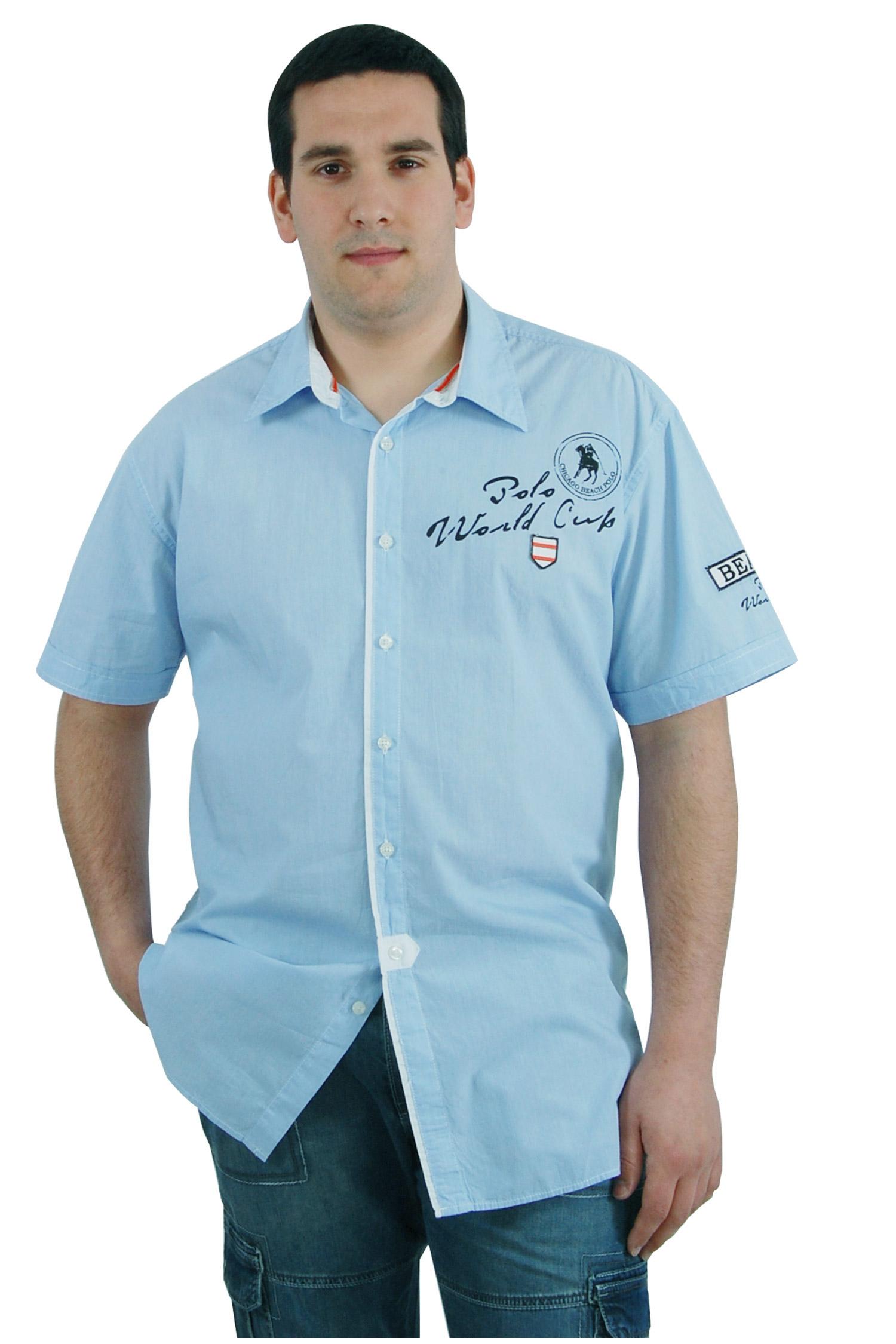 Camisas, Sport Manga Corta, 106547, CELESTE | Zoom