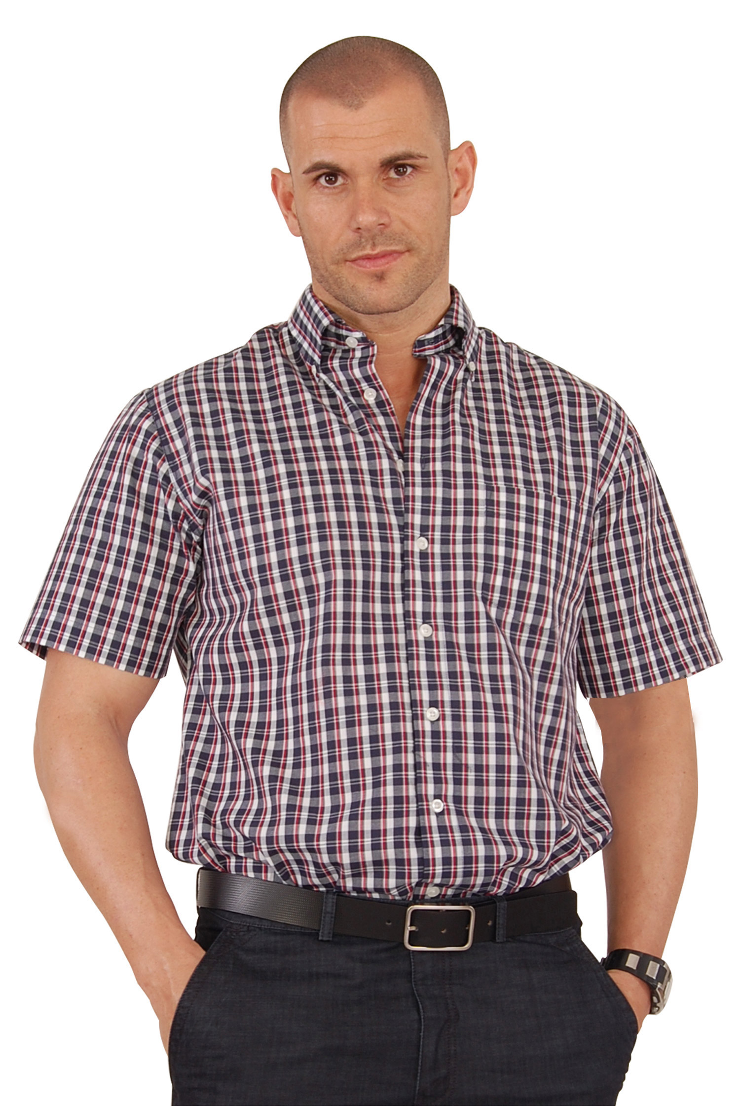 Camisas, Sport Manga Corta, 106568, GRANATE | Zoom