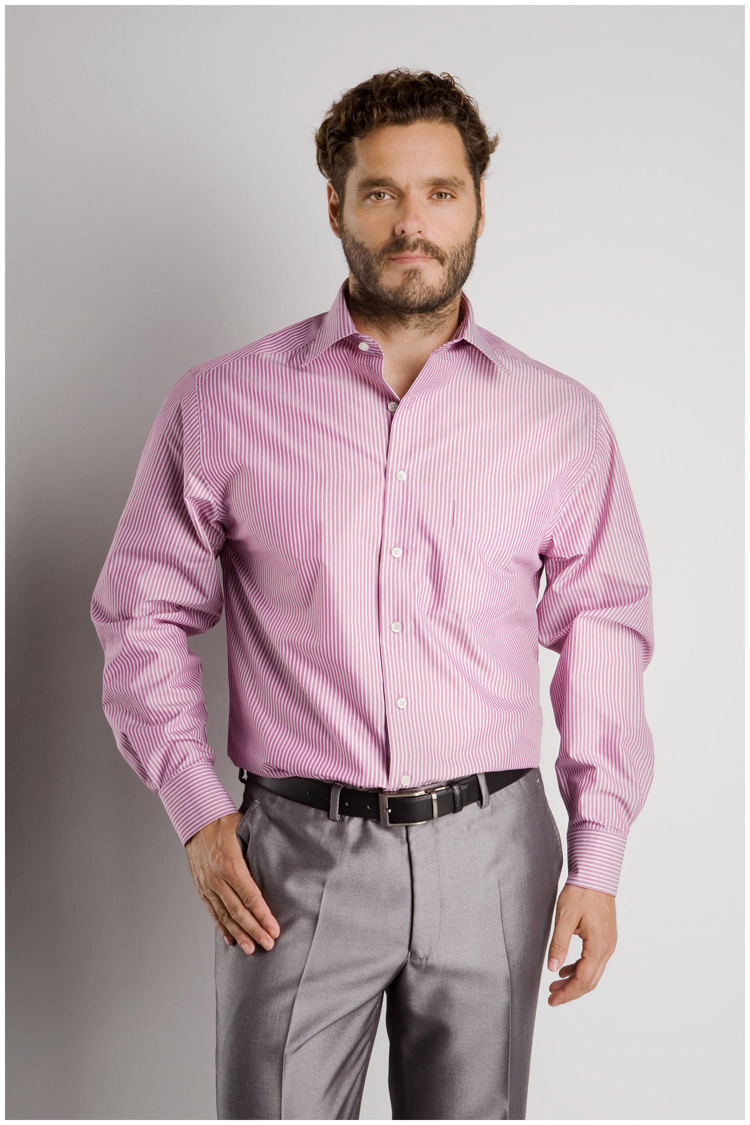 Camisas, Vestir Manga Larga, 106570, FUCSIA | Zoom