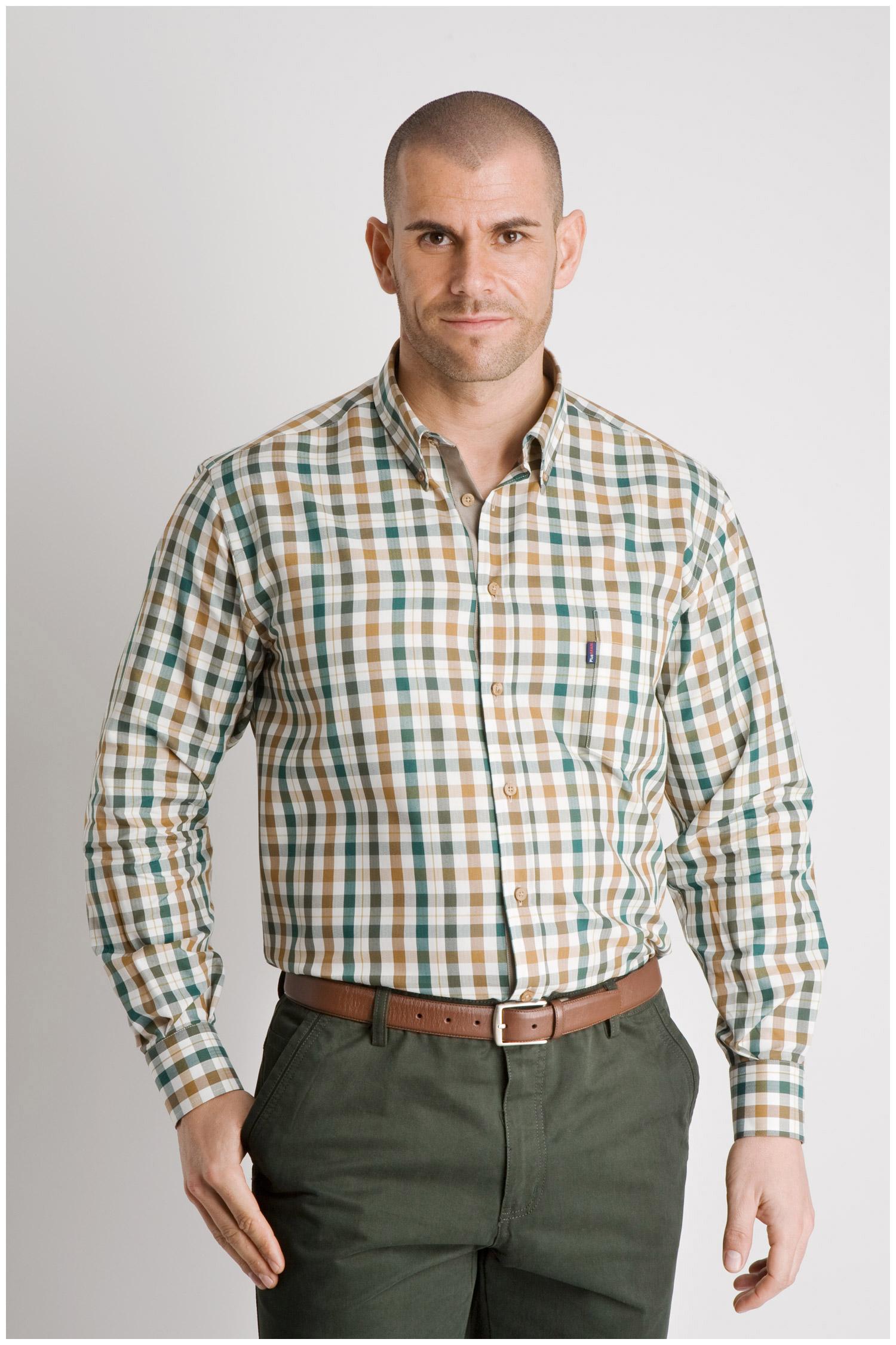 Camisas, Sport Manga Larga, 106633, VERDE | Zoom