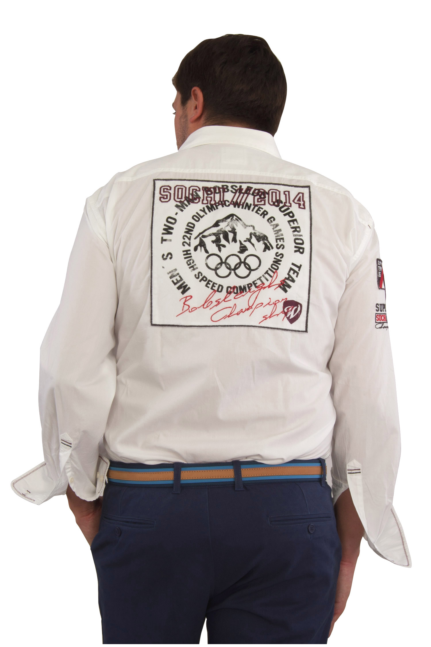Camisas, Sport Manga Larga, 106700, BLANCO   Zoom