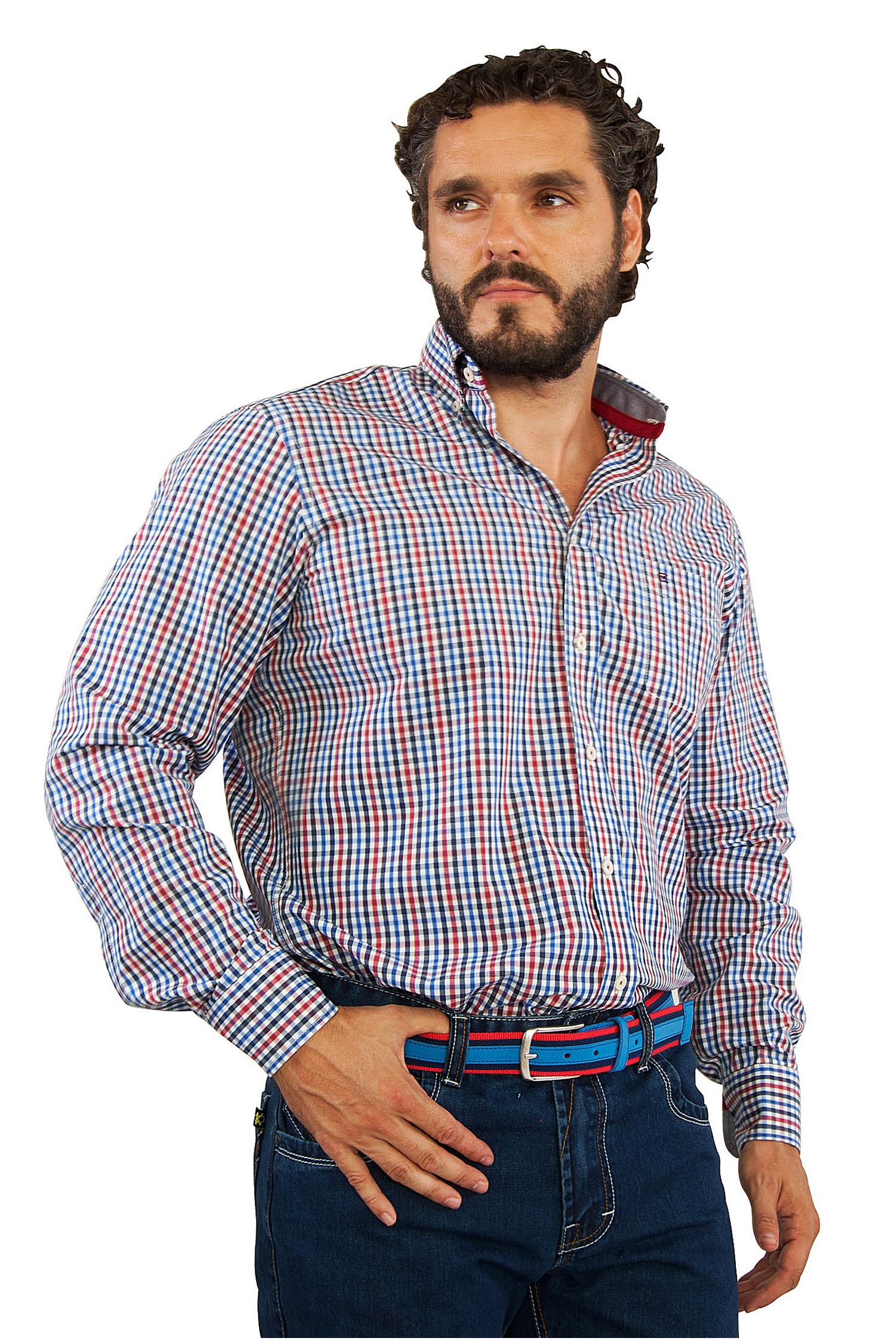 Camisas, Sport Manga Larga, 106728, MARINO | Zoom