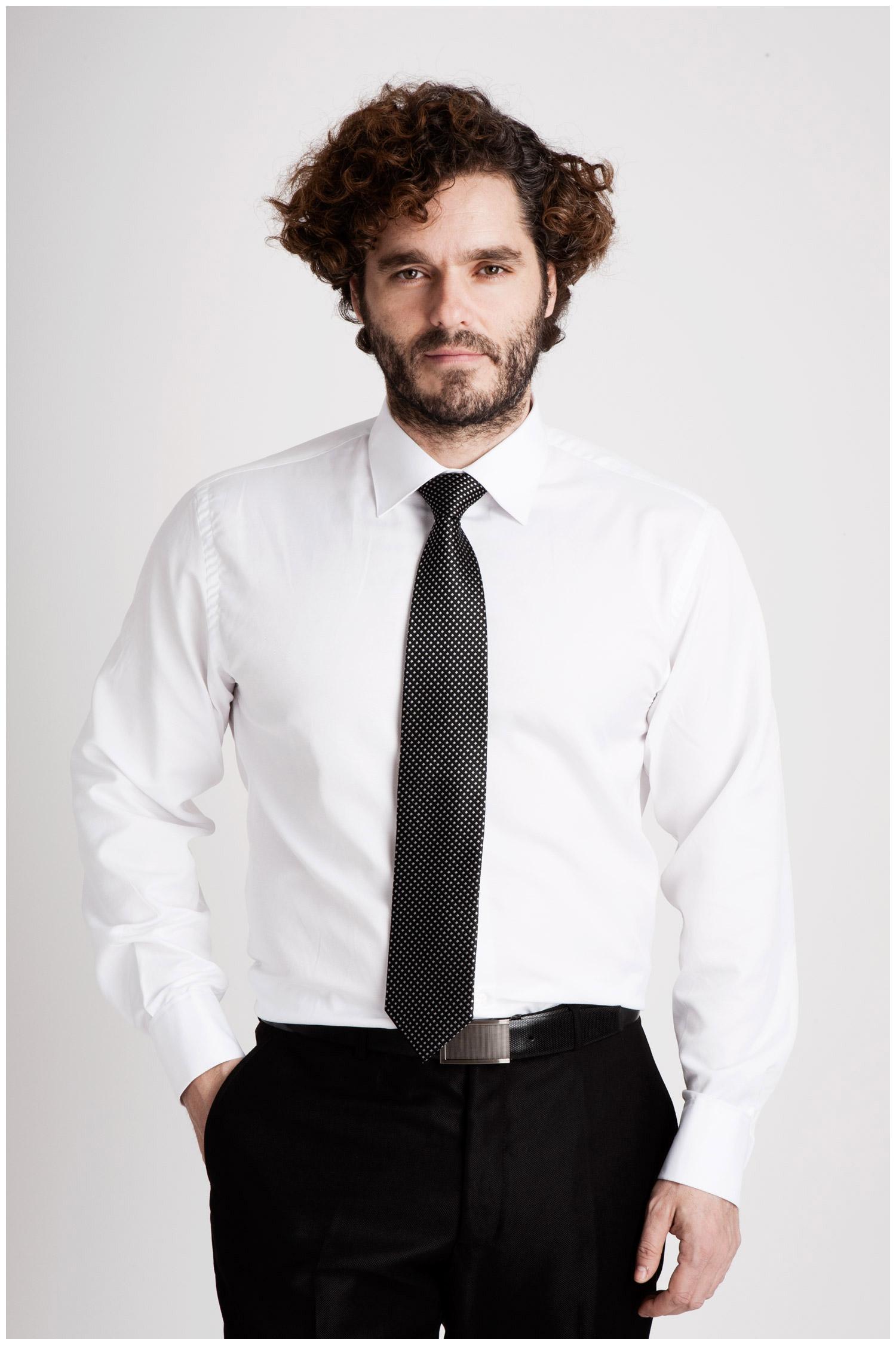 Camisas, Vestir Manga Larga, 106795, BLANCO | Zoom
