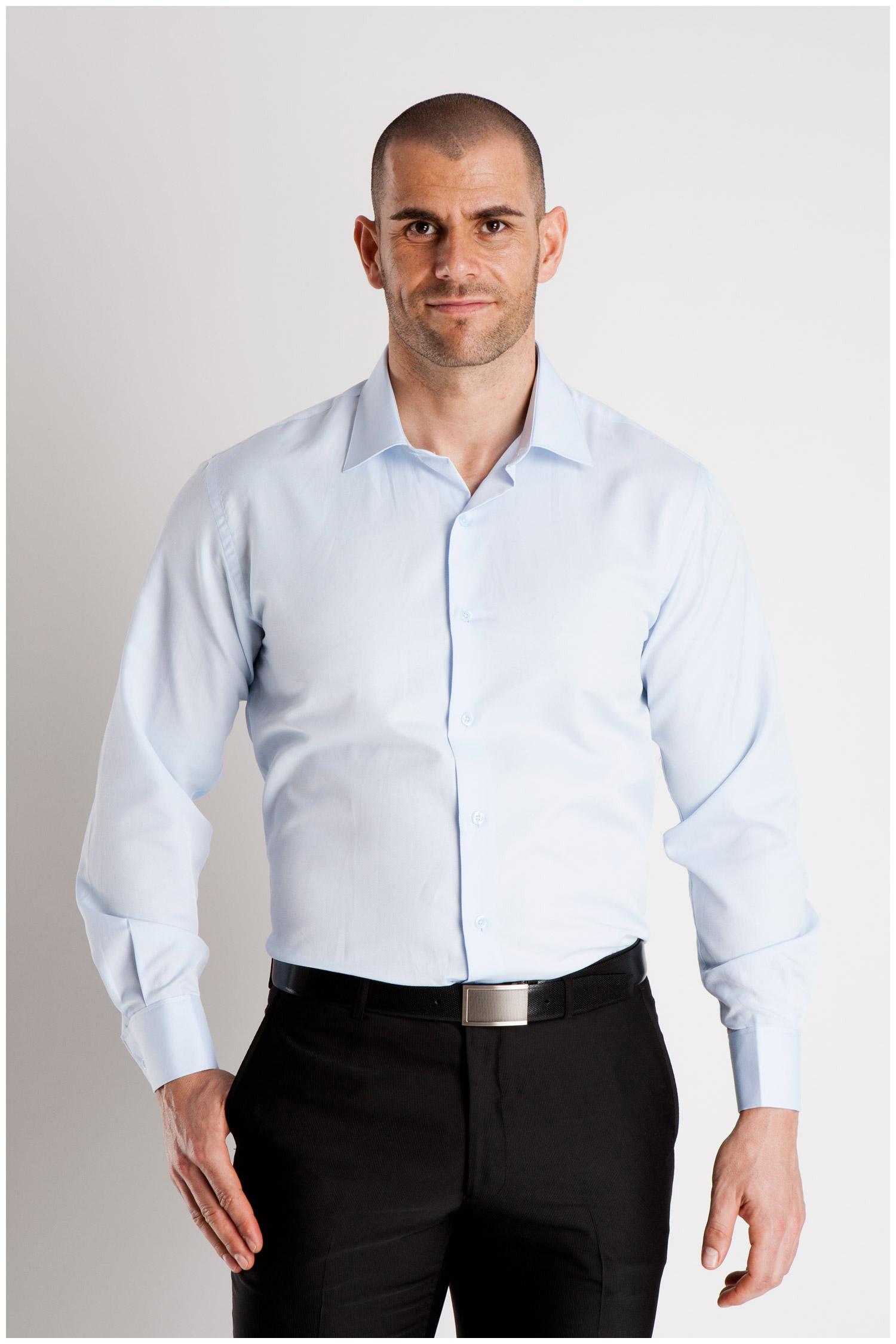 Camisas, Vestir Manga Larga, 106795, CELESTE | Zoom