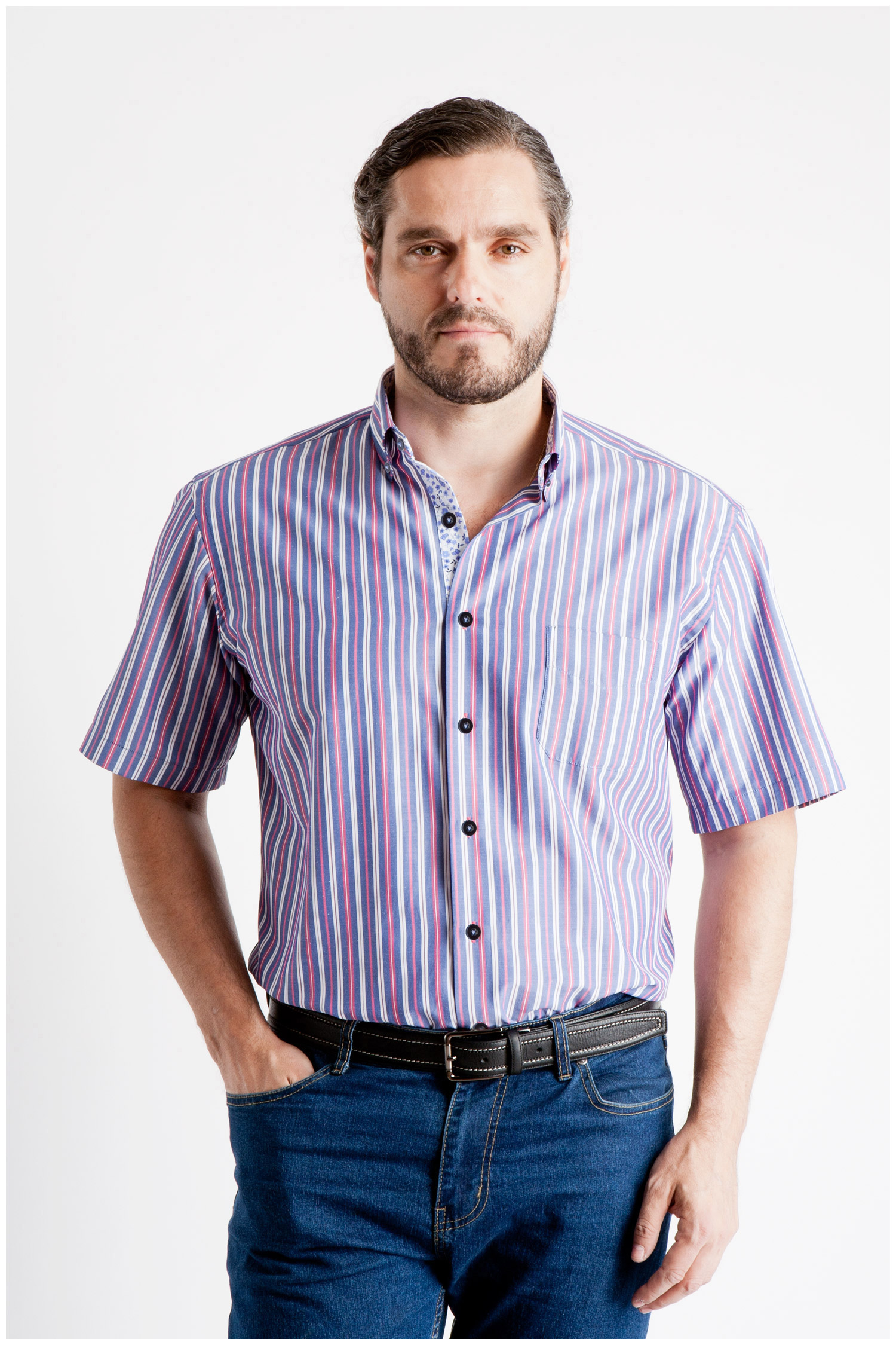 Camisas, Sport Manga Corta, 106814, MARINO | Zoom