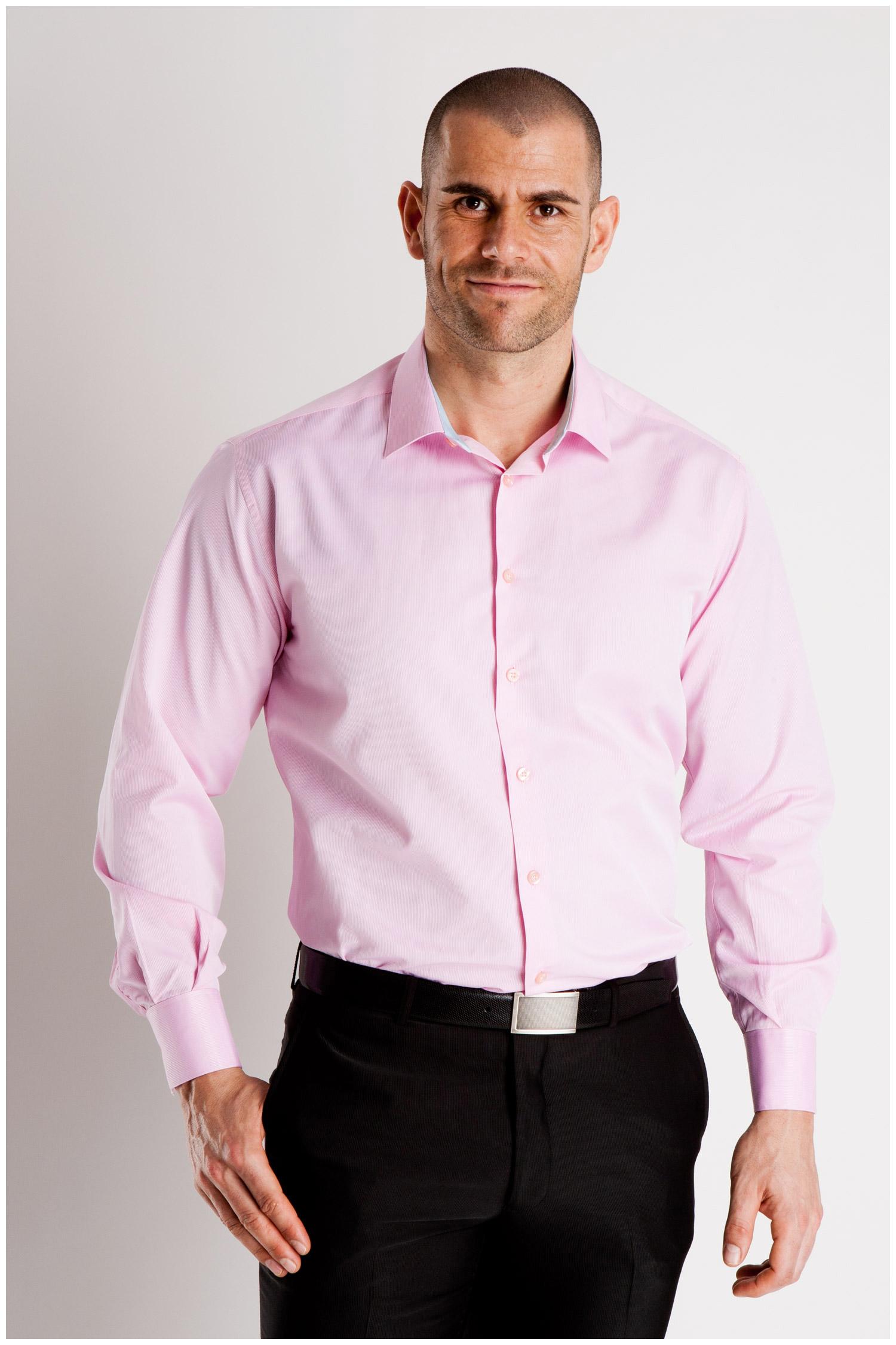 Camisas, Vestir Manga Larga, 106927, FUCSIA | Zoom