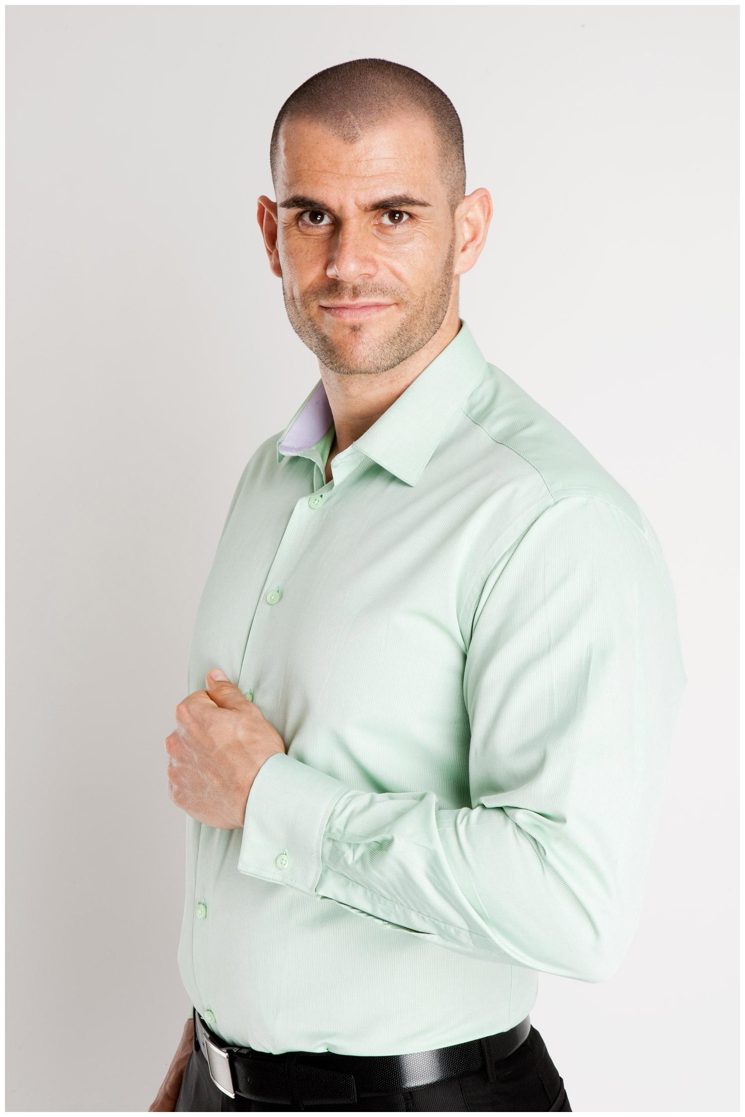 Camisas, Vestir Manga Larga, 106927, VERDE | Zoom