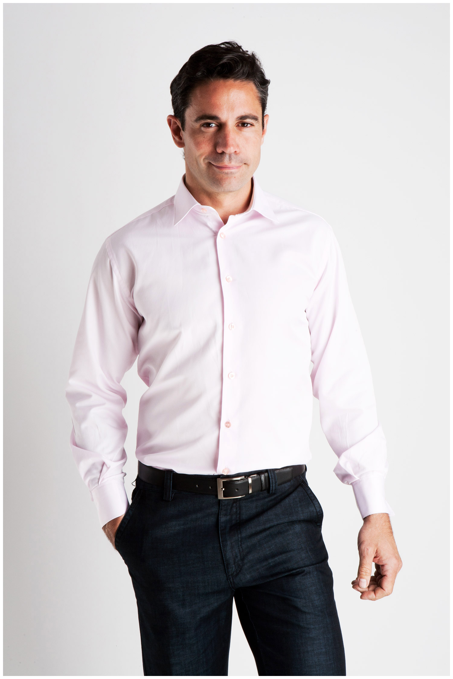 Camisas, Vestir Manga Larga, 106928, ROSA | Zoom