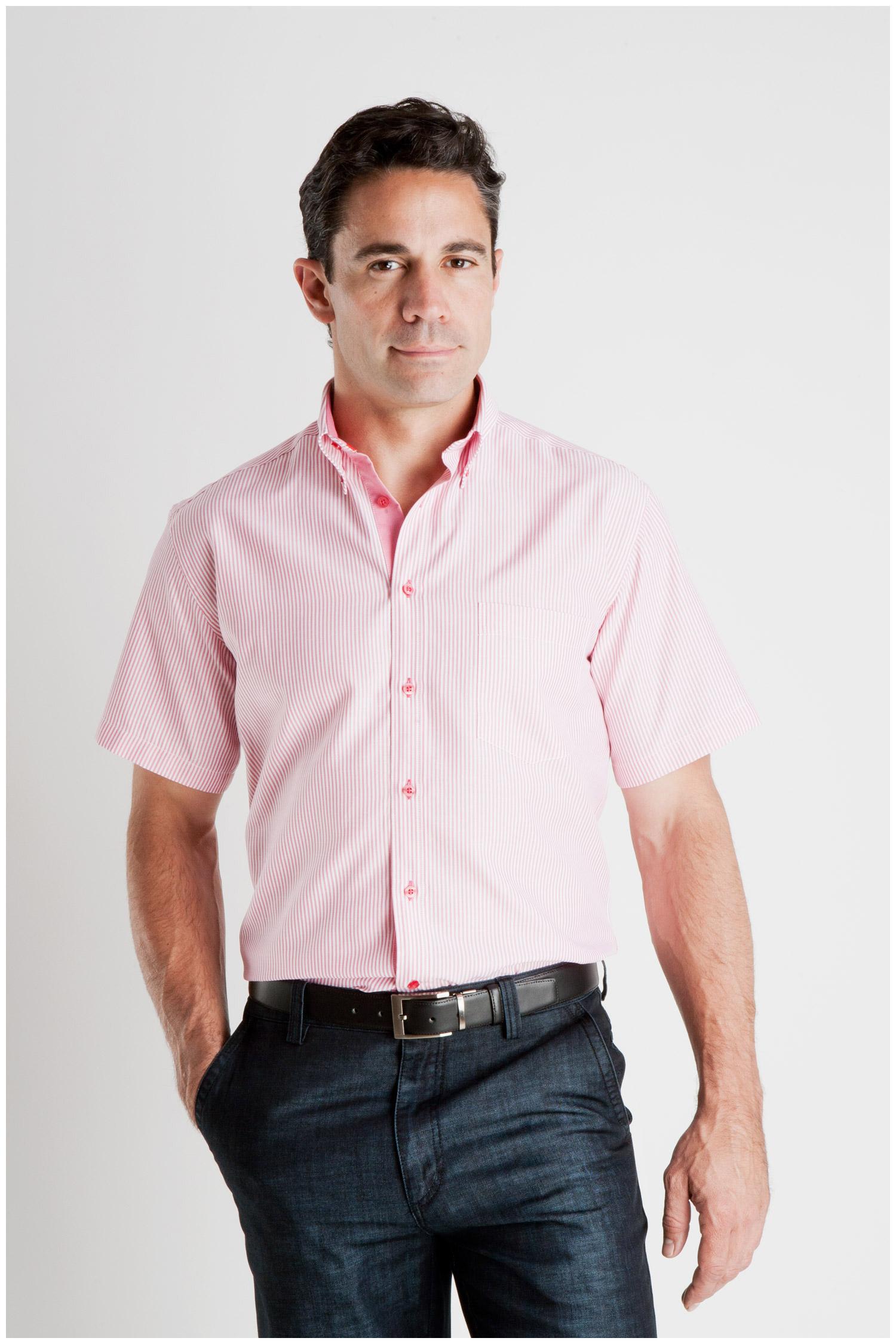 Camisas, Sport Manga Corta, 106929, FUCSIA | Zoom