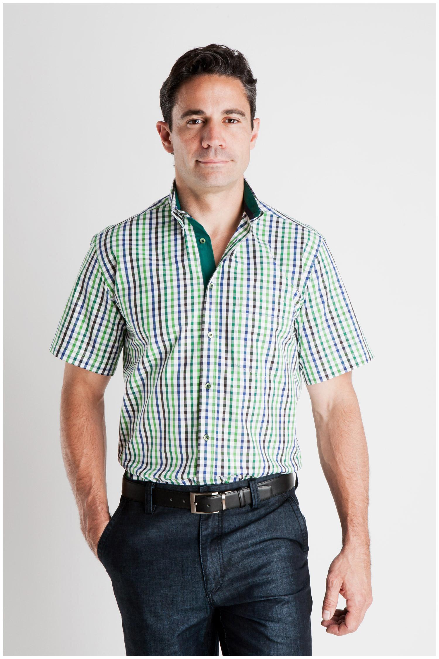 Camisas, Sport Manga Corta, 106932, VERDE | Zoom