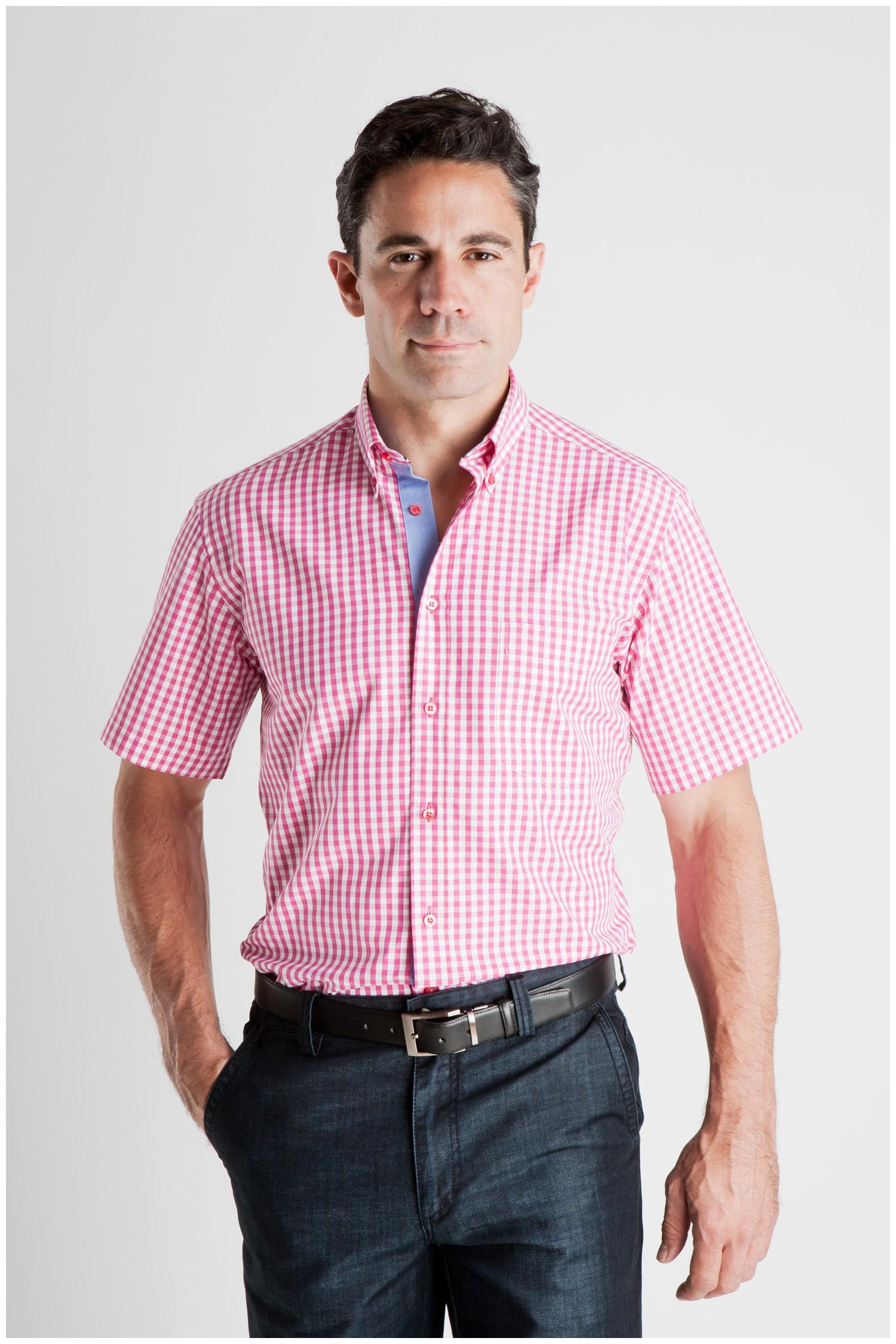 Camisas, Sport Manga Corta, 106935, FUCSIA | Zoom