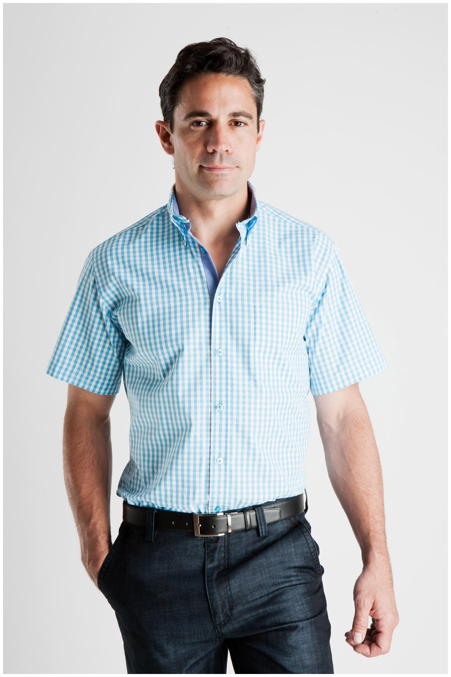 Camisas, Sport Manga Corta, 106935, TURQUESA | Zoom