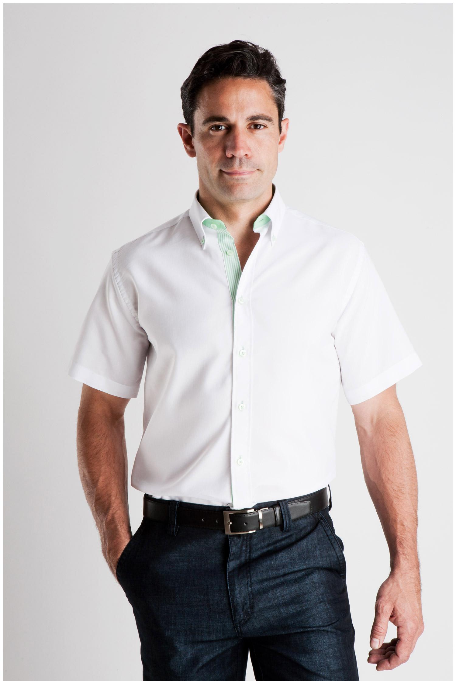 Camisas, Sport Manga Corta, 106936, VERDE | Zoom